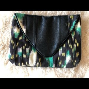 Be by Bryna Nicole green ikat clutch